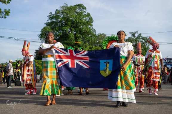 Montserrat's delegation at the Opening parade. (Jerely Browne Photo)