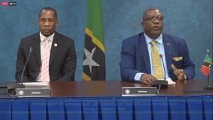 ECCB Governor Antoine, St Kitts & Nevis Prime Minister