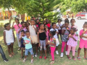 Children enjoy an ice cream at MCS summer camp