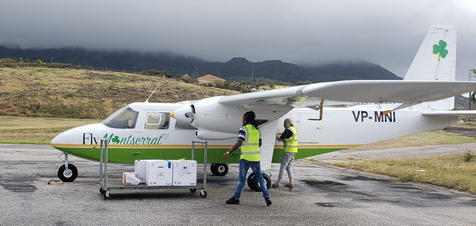 Fly Montserrat on the ground at John A. Osborne Airport