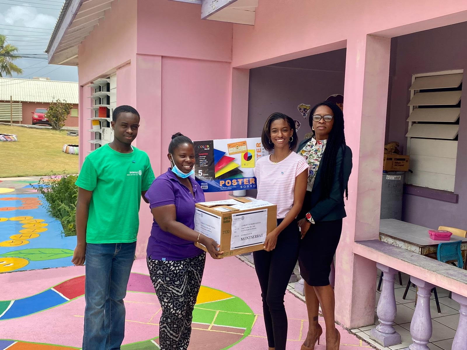 Interact Club members makes a contribution to the Lookout Nursery School