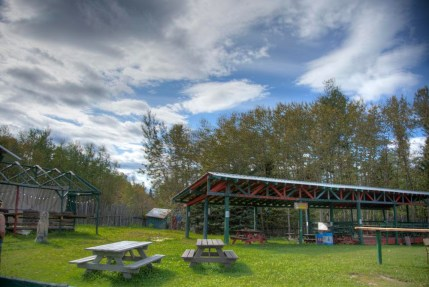 Facilities and gathering spaces at Ness Creek Festival Site