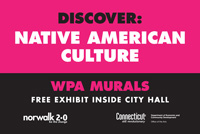 Norwalk City Hall WPA Mural Fence Art Project