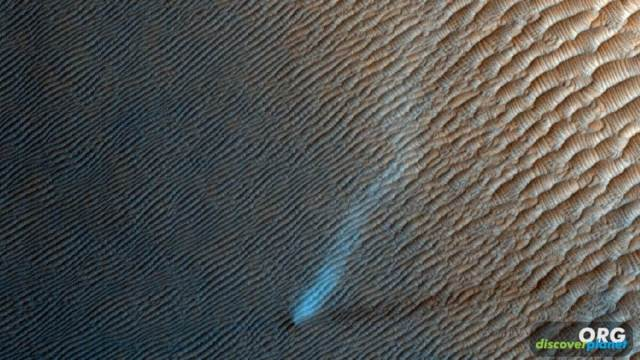 Mars Reconnaissance Orbiter has captured several dust devils on Mars