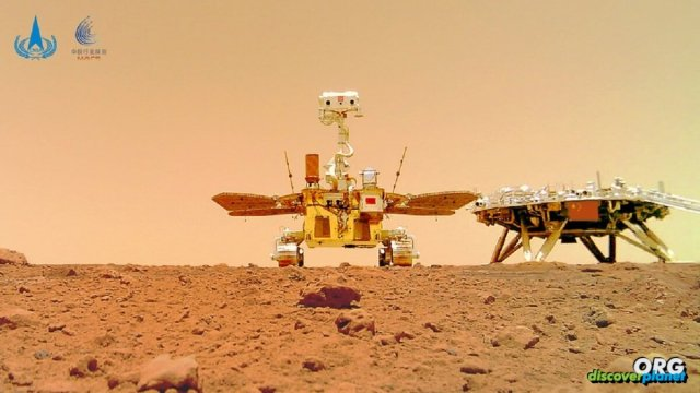 Chinese Space Agency released a series of photos of Mars rover