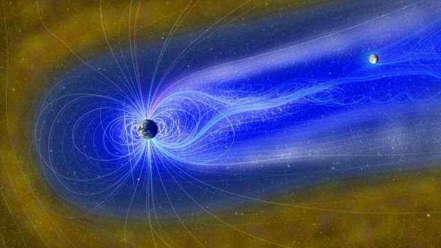 Water on the Moon due to Earth's Magnetosphere