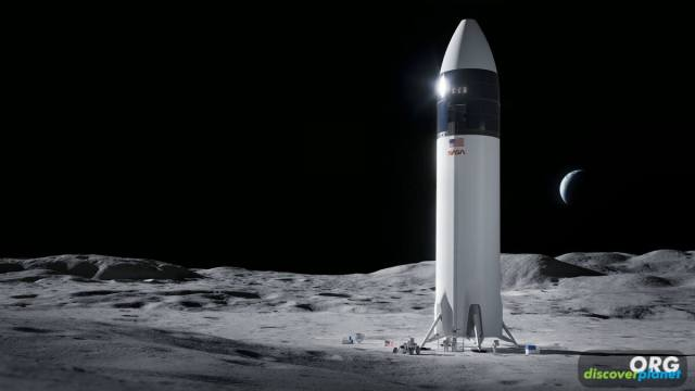 NASA selected SpaceX for the development of lunar lander