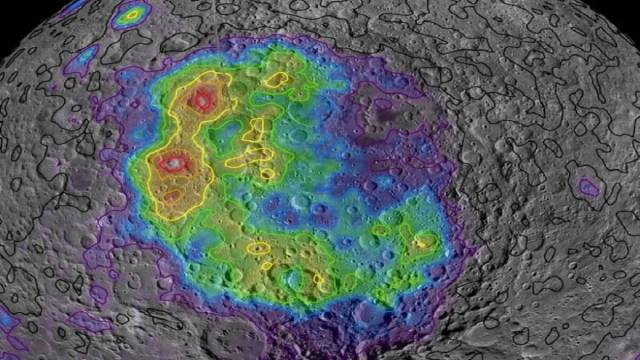 Moon provides its early history because of the craters