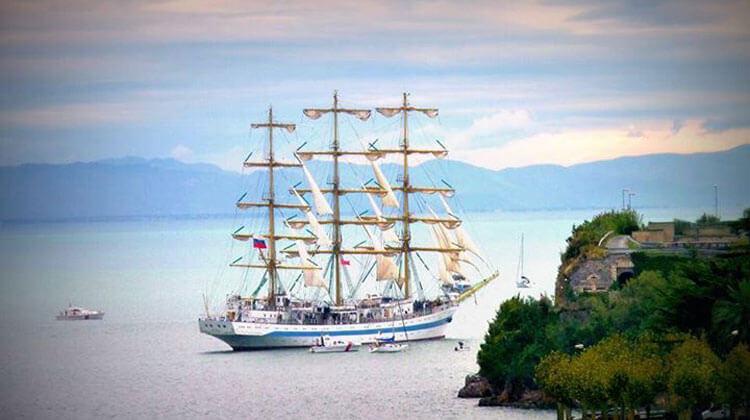 Amazing sail vessel in the Bay of Poets, La Spezia, Liguria