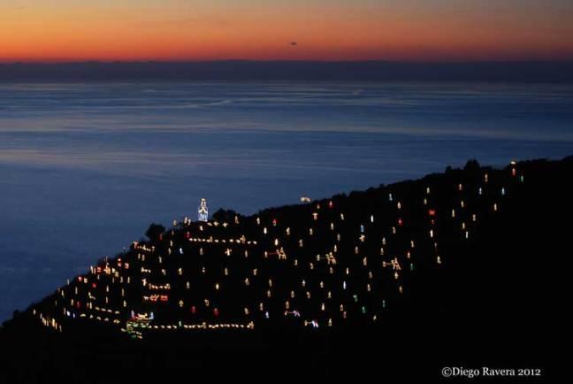 Manarola's Luminous Nativity Scene - by Diego Ravera
