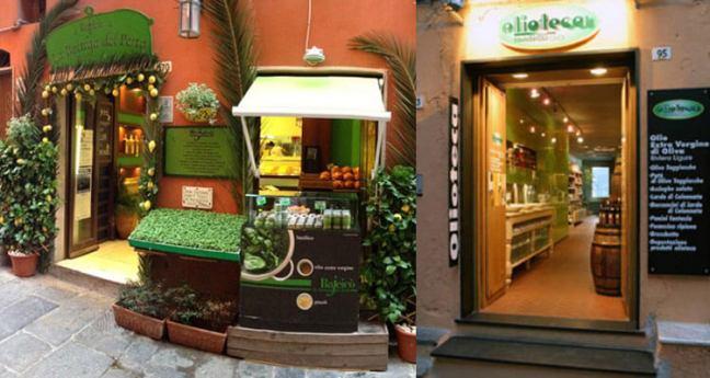 The shops of Bajeico and Bansigo in Portovenere