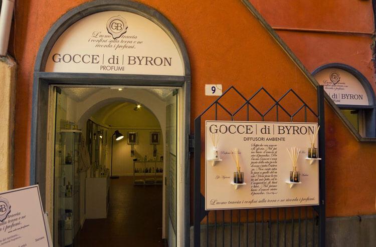 Gocce di Byron perfumes in Portovenere