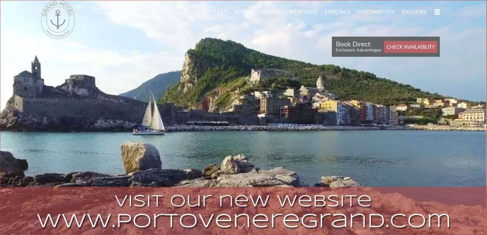 New Website with Amazing Videos for Grand Hotel Portovenere