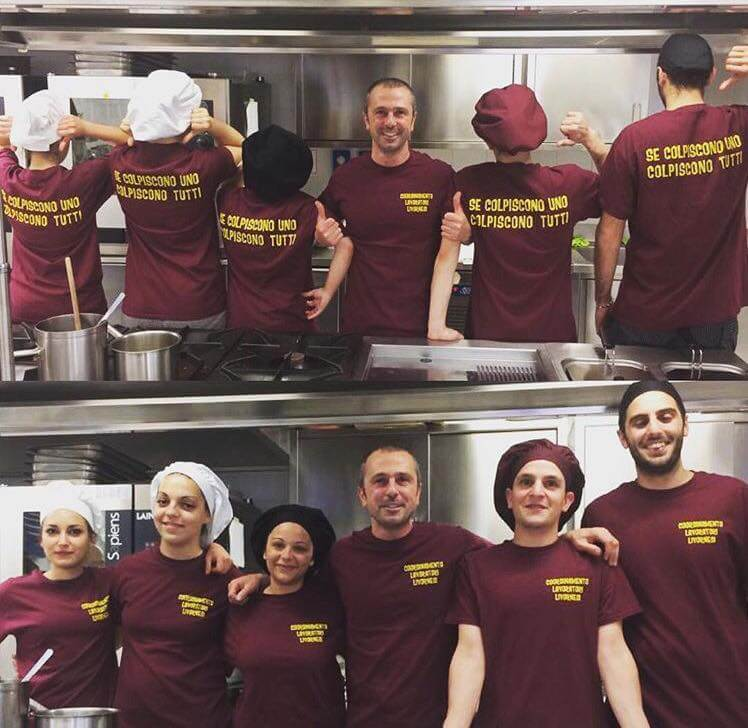 The team in the kitchen of Palmaria Restaurant
