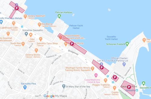 Sausalito Parking Lot Map