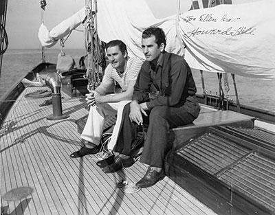 Errol Flynn & Howard Hill, close friends since they worked in Warner's