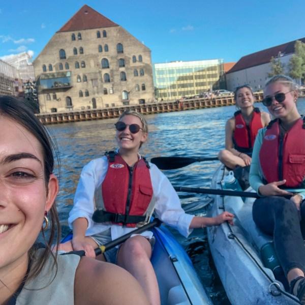 Summer Writer Grace kayaking