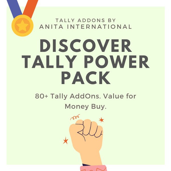 Discover Tally Power Pack - Tally AddOn TDL