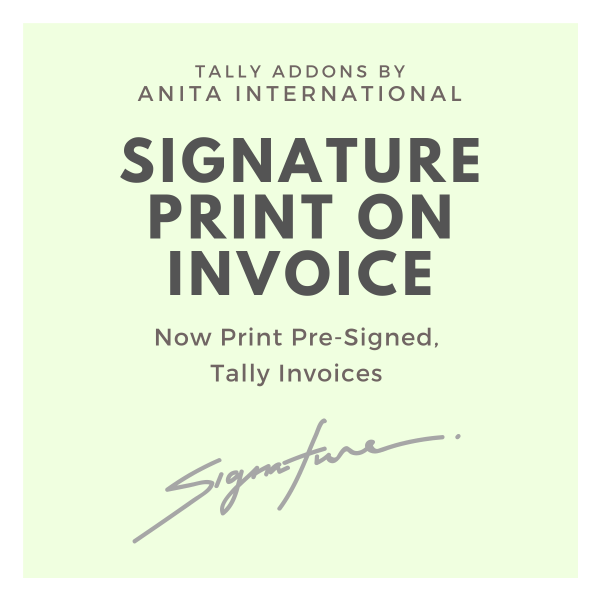 Signature on Invoice - Tally AddOn TDL
