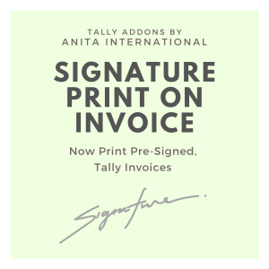 Signature on Invoice - Tally AddOn TDL