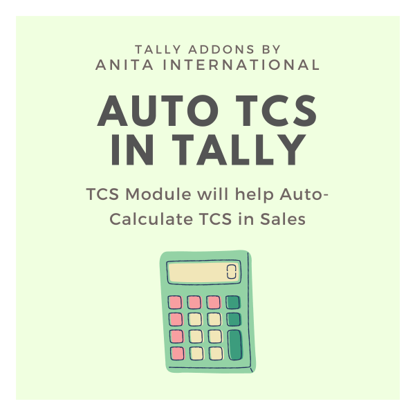 TCS Module in Tally - Tally AddOn TDL