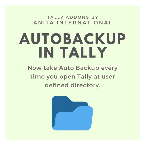 Auto Backup in Tally - Tally AddOn TDL