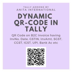 Dynamic QR Code in Tally Prime