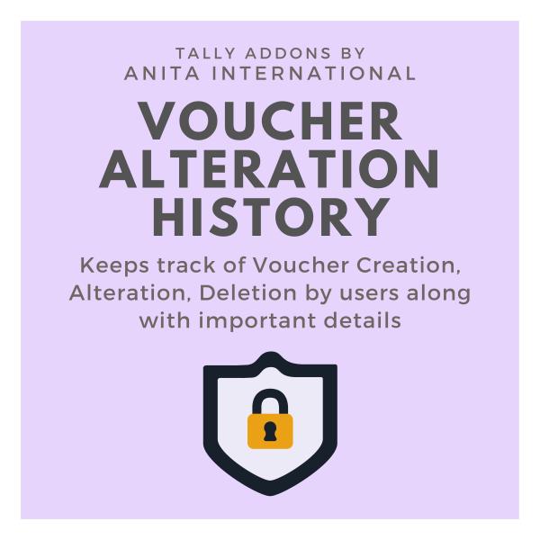 Voucher Alteraton History Audit Trail