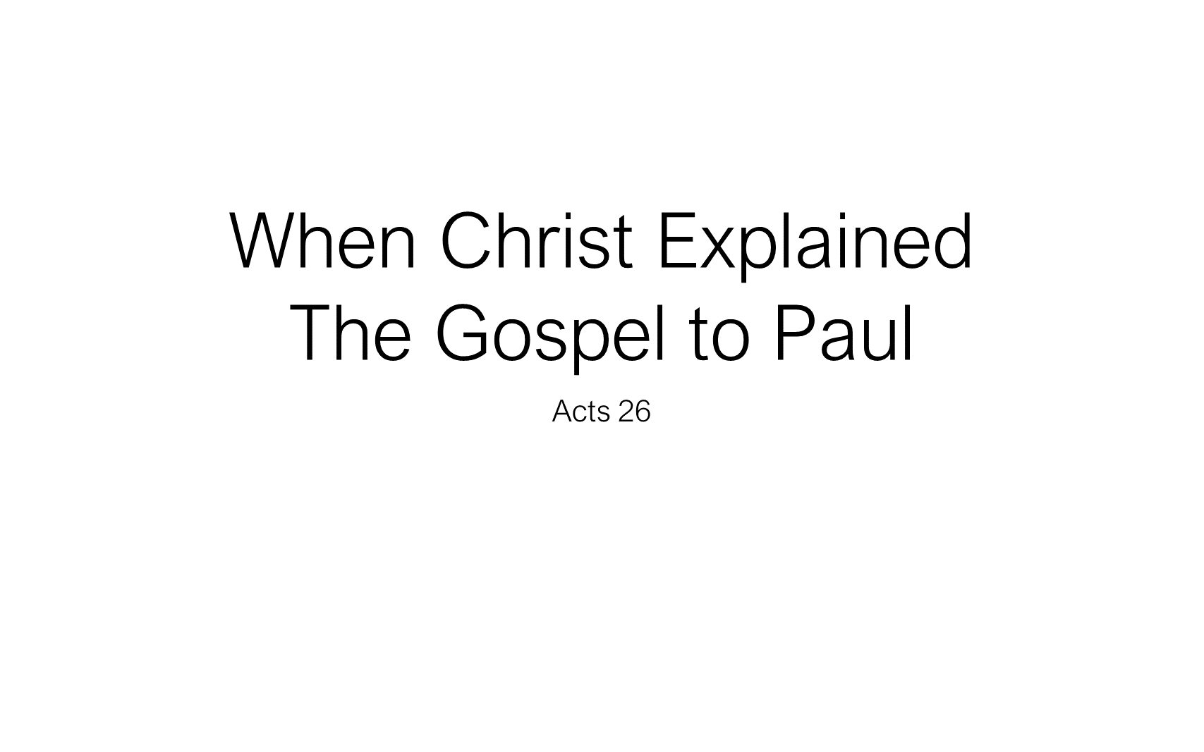 The Discipline Of Disciple-Making - When Christ Explained