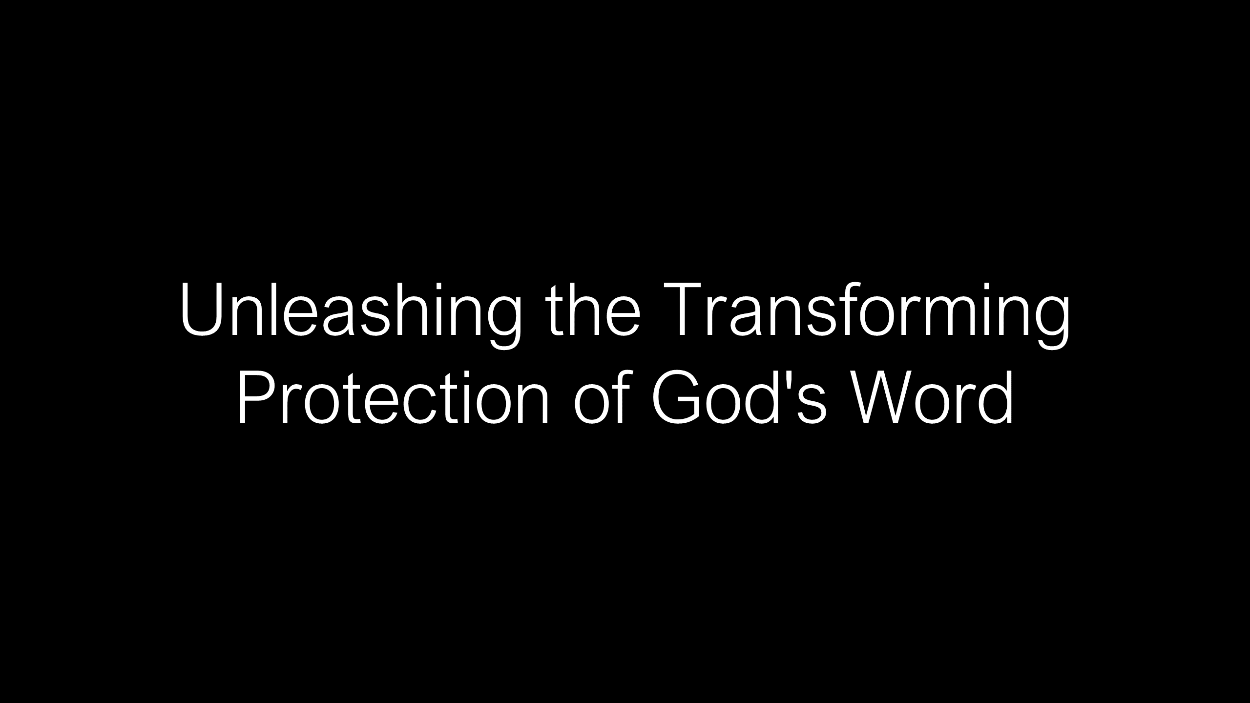 SWS-34 - Unleashing the Transforming Power of God's Word into Your Life - Exemplified by Jeremiah (17)