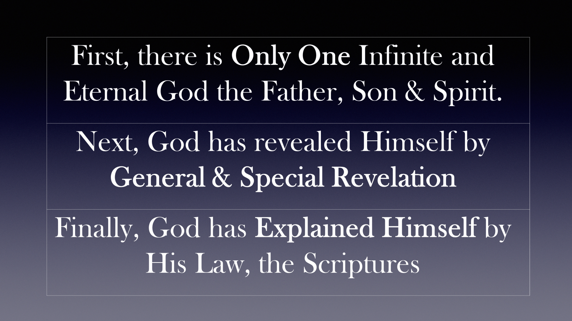 HFG-12 - Our God - Revelaled Through His Attributes, Reflected in His Law, and Illustrated by His Ceremonies (7)