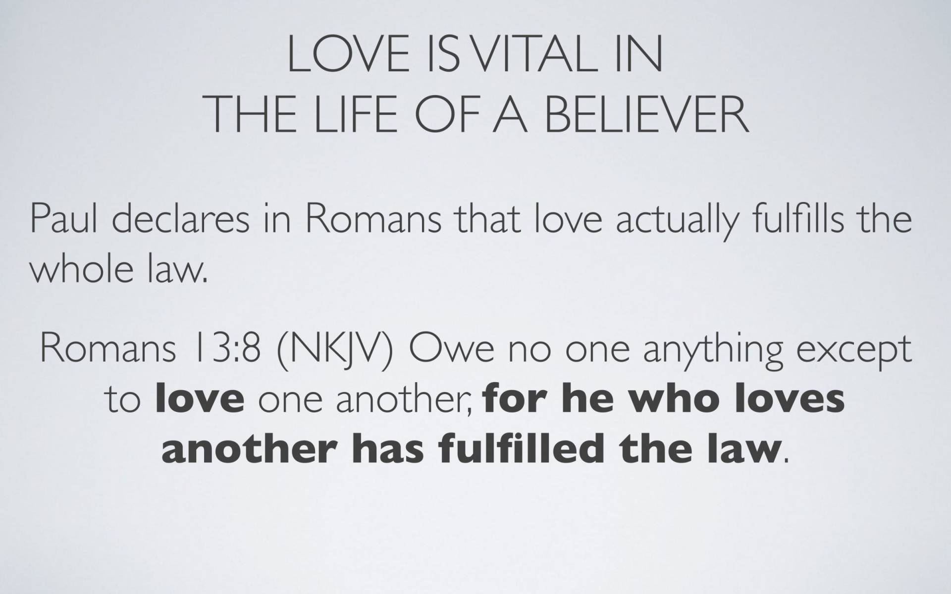 Lesson 13-2 - The Source Of The River Of Love That Is To Flow Out Of