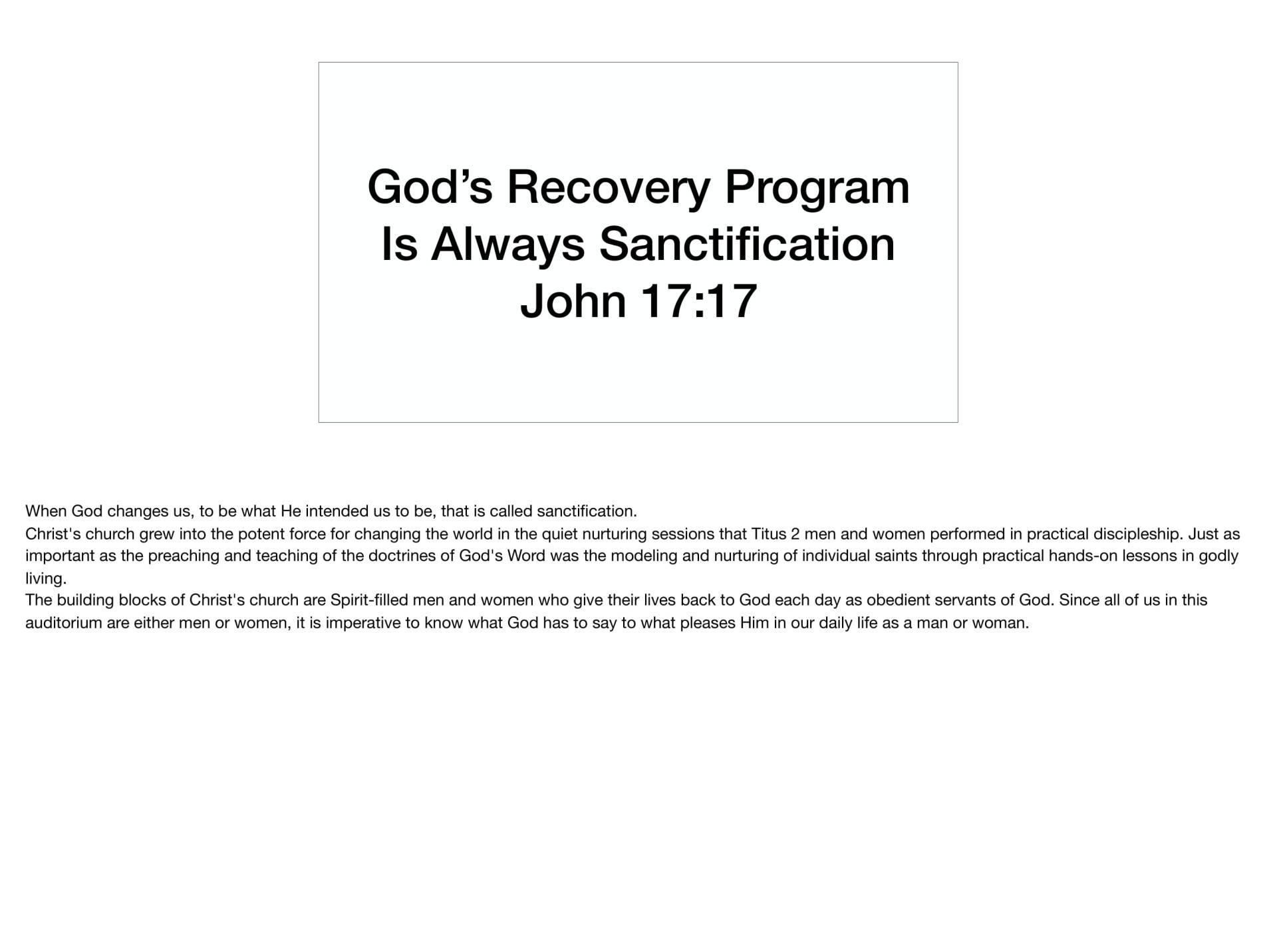 LGI-01 - God's Recovery Program Is Sanctification-14