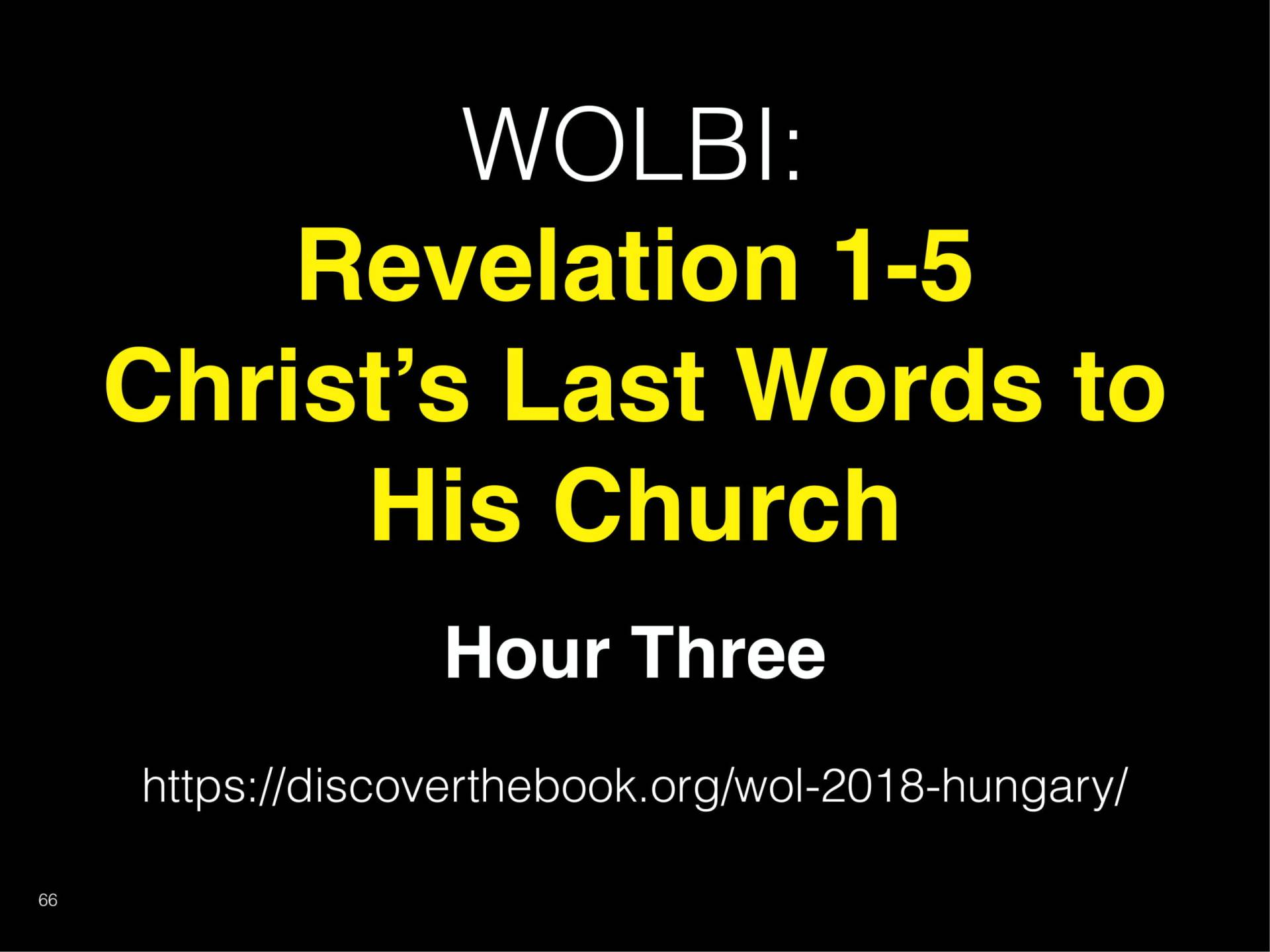 WOL2018 Hungary - 04 - Christ's Last Words To His Church - Christ Sanctifies His Church (21)
