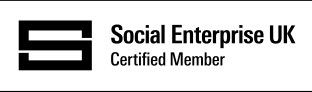 Certified Social Enterprise Badge - Black