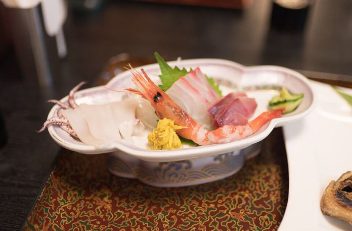 Wakaba Ryokan a perfect place to eat Sashimi (fresh sea food)