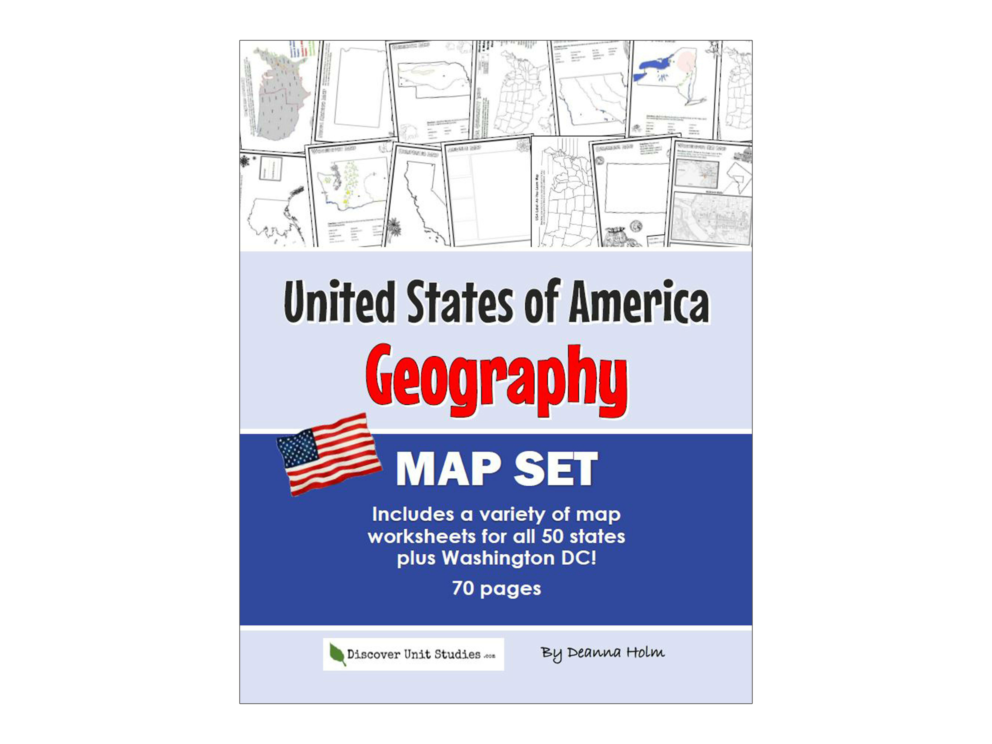 United States Of America Geography Map Set