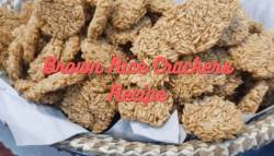 Brown Rice Crackers Recipe