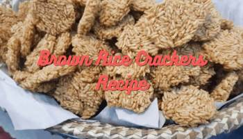 Brown Rice Crackers Recipe