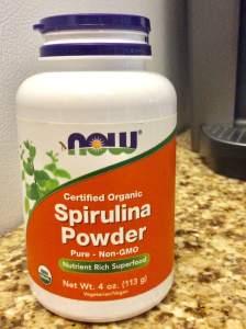Now Spirulina Organic Green Powder Supplements