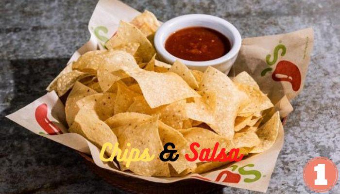 Vegan Chips and Salsa at Chili's