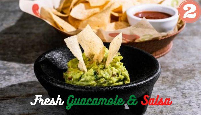 Vegan Fresh Guacamole and Salsa at Chili's