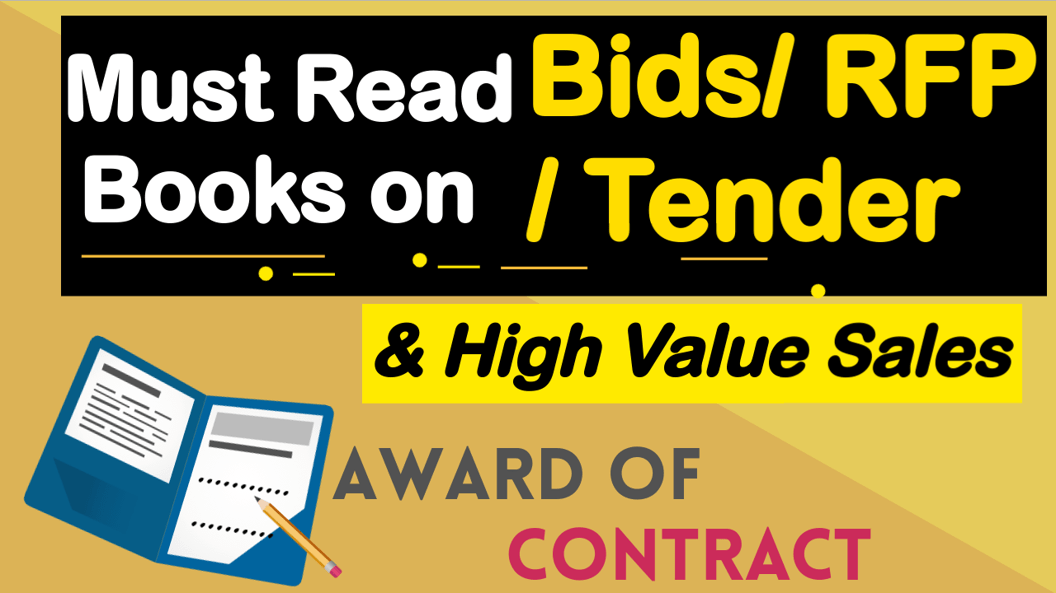 10 Must Read Books to win Tender, RFP, Bids- Request for Proposal Writing