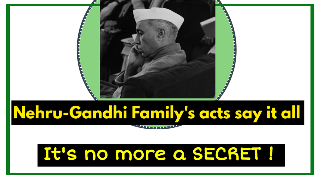 Nehru Gandhi Family's acts, which discloses their religion