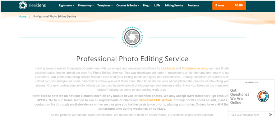 Professional Photo Editing by Sleeklens