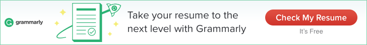 Grammarly for resume building