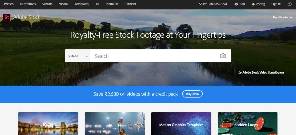 Adobe Stock for Royalty free digital video background footage