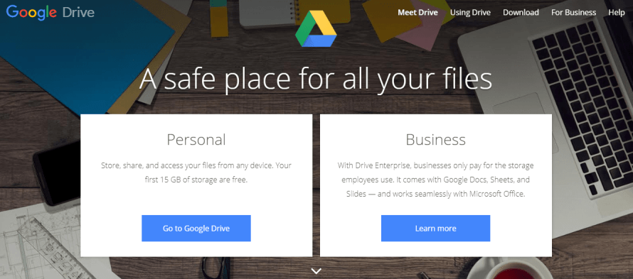 Google Drive - best and cheap cloud drive storage for individuals personal use