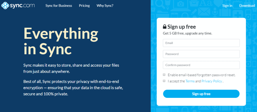 Sync - best and cheap cloud drive storage for individuals personal use