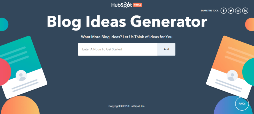Hubspot Blog topic or heading idea generator
